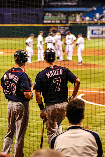 sports photographer, baseball, joe mauer, Justin morneau